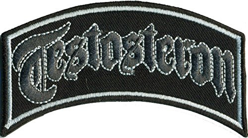 TESTOSTERON Bootboys Ultras Punk Biker Rockabilly Aufnäher Patch Aufbügler