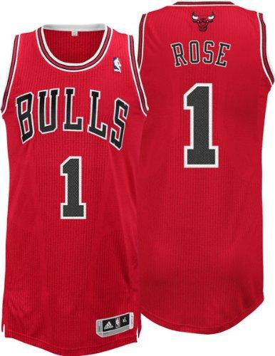 adidas Derrick Rose Chicago Bulls Authentic Revolution 30 Trikot, Schwarz, Herren, schwarz, LT (Rose Derrick)