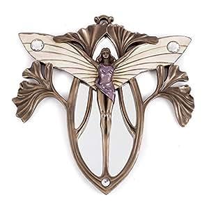 art in bronze miroir mural style art nouveau motif femme papillon cuisine maison. Black Bedroom Furniture Sets. Home Design Ideas