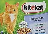 Kitekat Katzenfutter Nassfutter Adult für erwachsene Katzen FischBox in Sauce