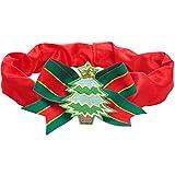 Blueberry Pet Festtagsfieber Weihnachtsbaum Hundehalsband-Überzug für S, M, L Halsbänder, Dekoratives Festtags-Accessoire für Haustierhalsbänder