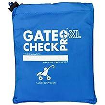 Gate Check PRO - XL Passeggino Doppio | Borsa da viaggio per passeggino/carrellino | Nylon balistico ultra-resistente | Sistema di viaggio che offre bretelle da spalla imbottite per maggior comodità