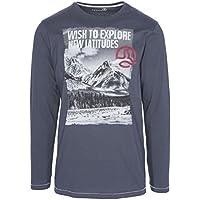 Ternua ® Baek Camiseta, Hombre, Negro (Whales Grey), L