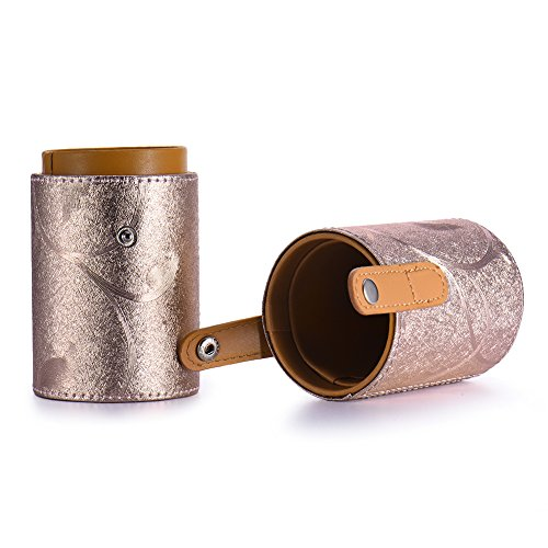 Oshide Cosmetic Case Makeup Brushes Cup Holder Portable Travel Case Brush Organizer Makeup Bags (Type 3, Rose gold)