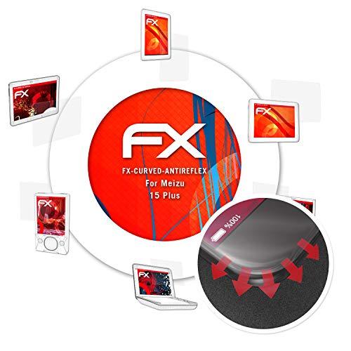 atFolix Schutzfolie passend für Meizu 15 Plus Folie, entspiegelnde & Flexible FX Bildschirmschutzfolie (3X)