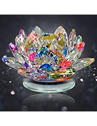 Reiki Crystal Products Vastu - Fengshui Transparent Crystal Lotus for Positive Energy for Good Luck and Prosperity