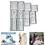 #8: JoyGlobal 4 in 1 Plastic Fondant People Mold Family Set (2 Adults+2 Kids) for Cake Decorating
