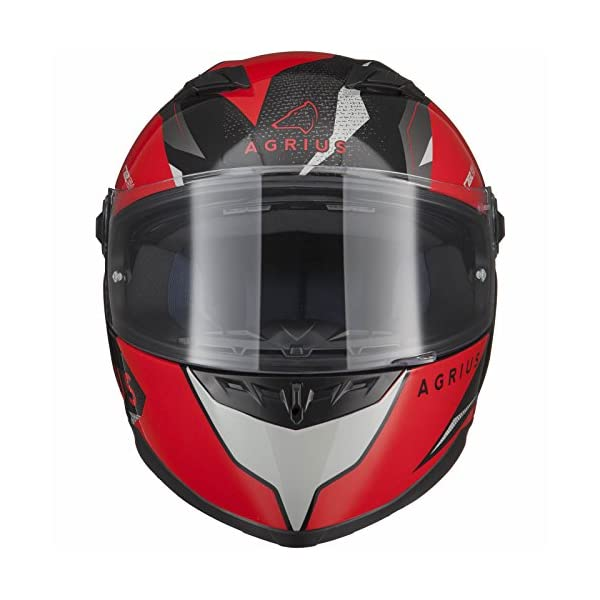 be51c4d3 Agrius Rage SV Fusion Motorcycle Helmet M Gloss Black/Red ...