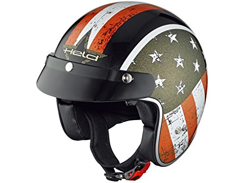 Held Helmet Bob Design Black L -