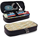 Bleistiftbeutel, federmäppchen tasche, federmäppchen, große kapazität bleistift slot orientalischen jugendstil laub 20cm * 9cm * 4cm