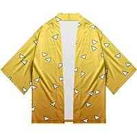 Maisley Kimono Demon Slayer Stampato Giapponese Chimono Cardigan Vintage Kimetsu No Yaiba Cosplay Camicia Estate Pigiama…