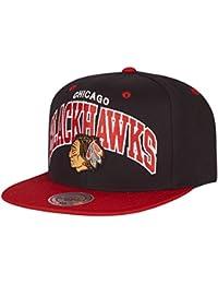 Chicago Blackhawks–Mitchell & Ness Snapback–nd12z–Black/Red