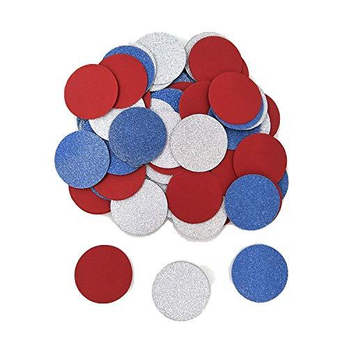 Konfetti-Papierstern zum 1. Geburtstag, für Mädchen, Babyparty, Mädchen, Süßigkeiten, Konfetti, Popper, Konfettis R red blue silver