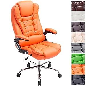 51icUt WmjL. SS300  - CLP-Silla-de-escritorio-THOR-silla-de-oficina-con-altura-del-asiento-regulable-respaldo-reclinable-tapizada-en-piel-sinttica-y-soporta-un-peso-mximo-de-150-kg-acolchado-grueso-para-mayor-comodidad-nar