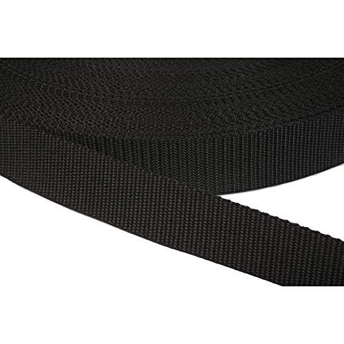 PP Gurtband 40mm aus Polypropylen, 6 Meter lang, 1,2mm Stark/Farbe: 41 - schwarz