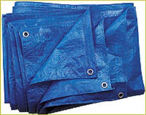Blaue Abdeckplane Gewebeplane 60g/m², 15x20m Schutzplane Plane zum universellen Gebrauch (Planen 15)