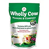 Casa De Amor Wholly Cow Manure & Compost Contains NPK and Micro Nutrients in Natural Form (1 Kg)