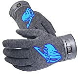 Bromeo Fairy Tail Anime Hiver Chaud Gants Gloves Mittens Lumineux Écran Tactile