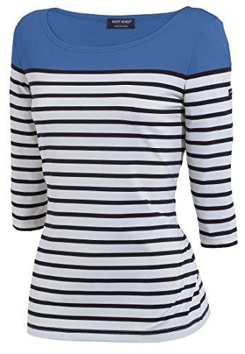 Saint James Shirt Carcasonne Weiß-Blau-Hellblau(Y=)