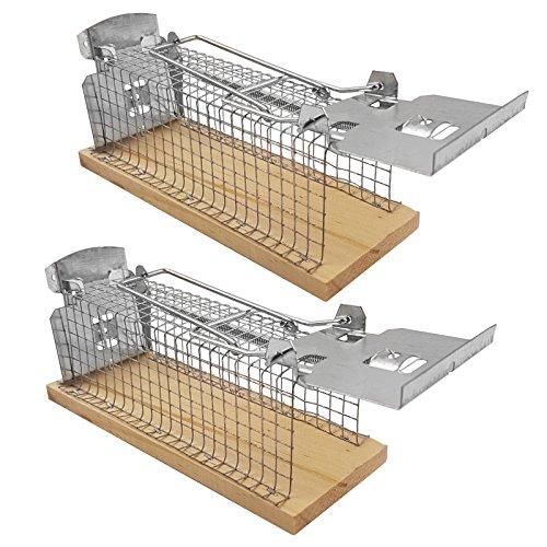 *2 x Lebendfalle Mäuse Mausefalle Drahtkäfig Kastenfalle Mäusefalle lebend Falle*