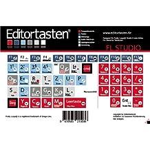 Image Line FL Studio / Fruity Loops Tastatur Aufkleber Sticker mit Shortcuts (Befehle / Kürzel) auf deutsch
