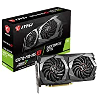 بطاقة جرافيك MSI Gaming GeForce GTX 1650 128 بت HDMI / DP 4GB GDRR5 HDCP تدعم DirectX 12 Dual Fan VR Ready OC (GTX 1650 Gaming X 4G)
