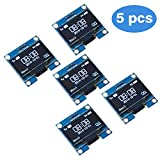 PEMENOL 5 Stk. 128 x 64 OLED Display Modul 0,96 Zoll Anzeigemodul I2C IIC Seriell SSD1306 für Arduino, Raspberry Pi und Mikrocontroller - Weiß Licht