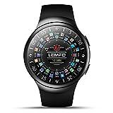 LEMFO Smart Watch 1.3 GHz Quad Core CPU ROM 16 G + RAM 1 G GSM/WCDMA WiFi/BT4.0/GPS/contapassi frequenza cardiaca Smart Watch per Android 5.0 iPhone IOS 8.0 (Nero)