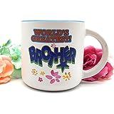 Satyam Kraft Ceramic(1 Pc) World's Greatest Brother Printed Mug 350 ML/coffee Mug/ceramic Mug/mug/gift For Brother/birthday Gift For Brother/gift For Diwali/gift For Birthday/gift For New Year/gift/Diwali Gift Idea/gift For Friend