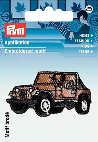 PRYM Eisen auf bestickt Motiv Aufnäher, Jeep, je