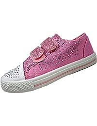 Chatterbox - Zapatillas de Lona para niña Rosa rosa 34 EU