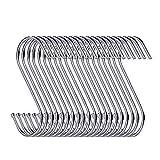 swatowot 30 Pack S-Form Haken zum Aufhängen 9 cm Kleiderbügel für Küche