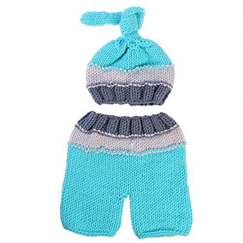 NUOLUX Baby Fotografie Requisiten, neugeborenes Baby häkeln Beanie-Mütze-Hose