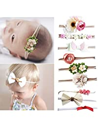 Baby Girl Headbands Neonato Bambino Fiore Accessori per capelli corona 9  pezzi a5f72a9b6874