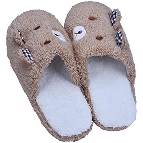 Fortan Bello dell'orso piano casa morbido cotone imbottito Pantofole Scarpe