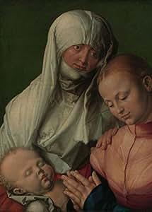 ALBRECHT DÜRER vierge et enfant Saint Anne, détails c1519 carton brillant 250 g/m² A3