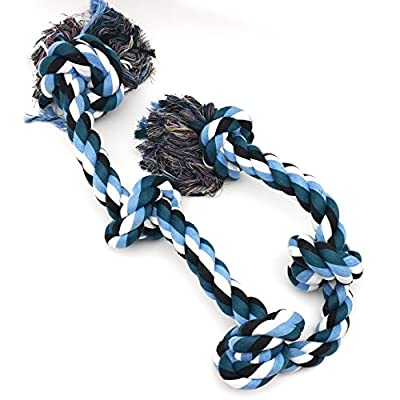 XXL 36 inch Dog Rope Toys for Strong Large Dogs,Dog Chew Toy 5 Knots Rope Tug for Aggressive Chewers, Interactive Rope Chew Toys to Large Dog Breeds 5Knot Rope