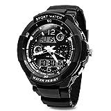 TOPCABIN Jungen Uhren Mädchen Uhren Kinder Armbanduhr Jungen Digital Analog Wasserdicht Sports Uhren für Jungen und Mädchen Digital Uhr Sports Uhren Weiß