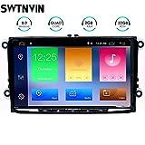 SWTNVIN Android 9 Auto Audio Stereo Headunit si adatta per Volkswagen Skoda Radio 9 Pollici HD Touch Screen GPS Navigazione GPS con Bluetooth WIFI Steering Wheel Control 2GB-32GB (Sottile)