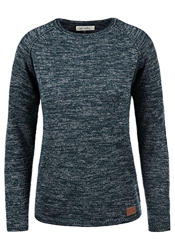 BlendShe Daniela Damen Strickpullover Feinstrick Pullover Mit Rundhals Und Melierung, Größe:S, Farbe:Navy (70230)