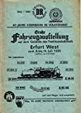 Grosse Eisenbahn Fahrzeugausstellung auf dem Gelände des Traditionsbahnhofs Erfurt West vom 6. bis 14. Juli 1985 - 40 Jahre Eisenbahn in Volkeshand - 1945 - 1985 und 150 Jahre Deutsche Eisenbahnen.