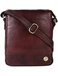 Hammonds Flycatcher Original Bombay Brown Leather Zip Compartment Messenger Bag (L=21,B=9, H=27 cm) SB1160