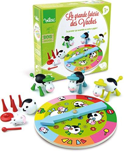 Kuh-Lotterie Brettspiel Farbenspiel Tierspiel