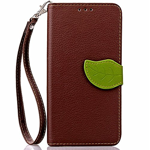 iPhone Case Cover IPhone 7 cas feuille magnetique fermeture motif PU cuir case portefeuille stand pour Apple IPhone 7 ( Color : Red , Size : IPhone 7 ) Brown