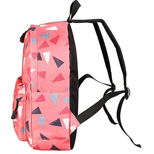 Longra Sacchetto di svago Con triangolare figura geometrica Rosa