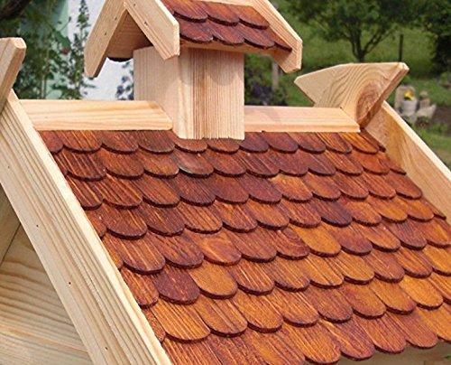 Vogelhaus Vogelhäuser-(V05)-Vogelfutterhaus Vogelhäuschen-aus Holz-DHL-XXXL Braun - 4