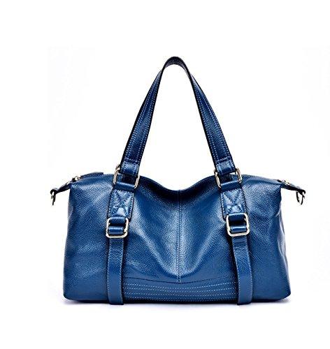 PACK Quattro Borse In Pelle Borse Traghetto Borse Borse Borsa Messenger Bag Messenger Bag,F:Blue B:DarkBlue