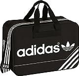 adidas Unisex-Erwachsene Boston Bear Bag Umhängetasche, Schwarz/Weiß