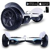 Cool&Fun Hoverboard 8,5' Gyropode Tout-terrain Smart Skateboard Électrique de Boutique GyroGeek (Argent)