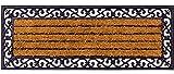 matches21 Große XXL Fußmatte Fußabstreifer Kokos mit Gummirand 45x120 cm Rutschfest Kokosmatte